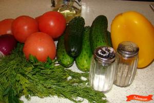 Легкий летний салат