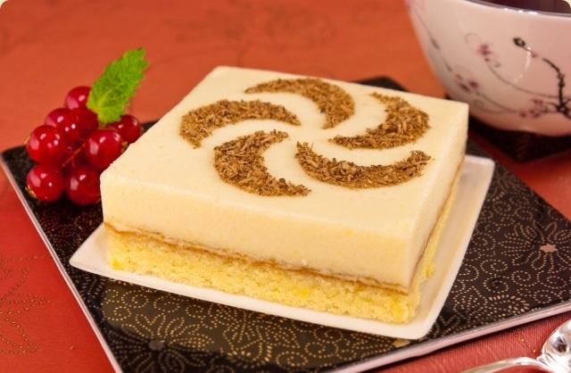 Бисквитное пирожное с апельсиновым суфле 2