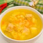 Суп з індичкою і пшоном