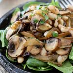 Салат с грибами и фасолью на зиму