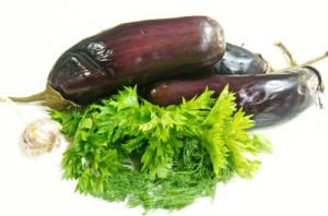 Баклажани з часником і зеленню