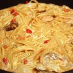 Быстрые макароны с грибами в сливочном соусе