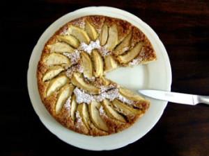 Яблучний вівсяний пиріг