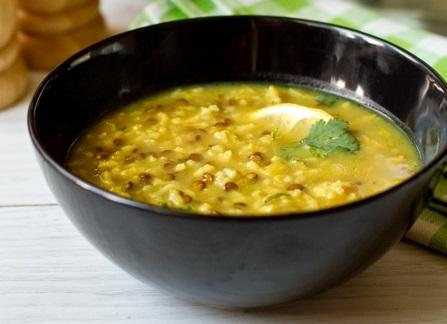 Лимонний суп із сочевиці і рису