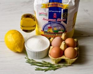 Мадлен з лимоном і розмарином на оливковій олії