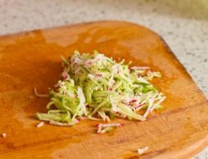 Салат з ростбіф і припущеними томатами черрі