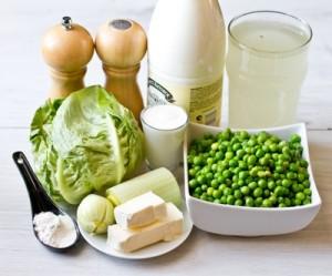 Вершковий крем суп із зеленого горошку