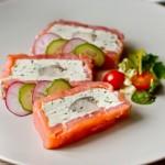 Террін з червоної і білої риби з вершковим сиром