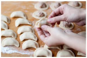 Пельмені домашні (тісто в хлібопічці)
