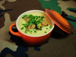 Суп из цветной капусты и мидий