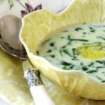 Весняний французький суп зі щавлем