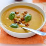 Суп з солодкої картоплі на кокосовому молоці