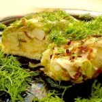 Молодая капуста с грибами в духовке