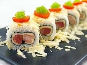 Роллы с лососем и креветками — фоторецепт суши-роллов