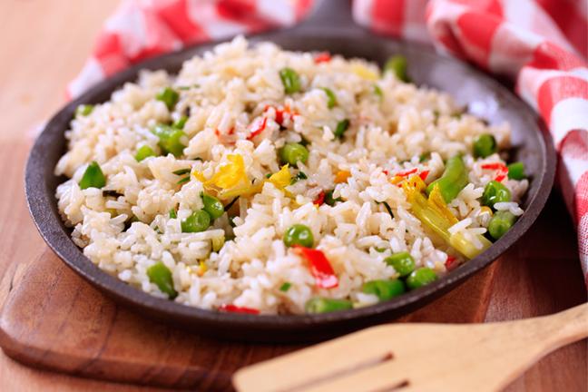 Рецепт - Рис с овощами