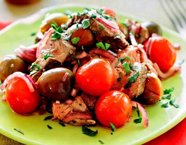 Дачный салат на гриле