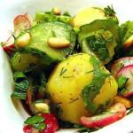 Салат з редису з картоплею