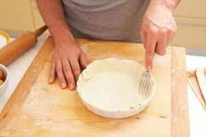 Овощной пирог с беконом