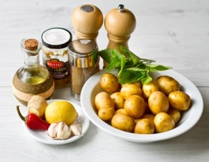 Гостро пряна печена картопля