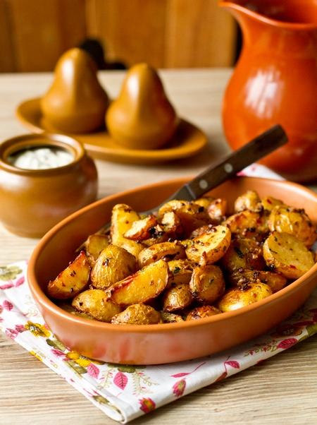 Гостро-пряна печена картопля
