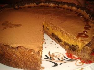 Карамельний тарт з чорносливом