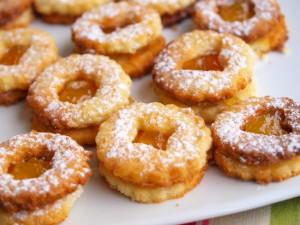 Миндальное печенье с апельсиновым конфитюром