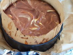 Шоколадний мармуровий сирник