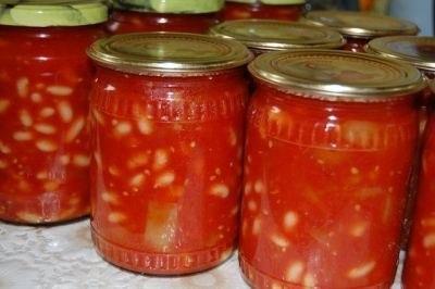 Квасоля в томатному соусі на зиму