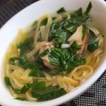 Суп зі свинини з яєчною локшиною