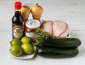 Качине філе з цукіні і лаймово медовим соусом