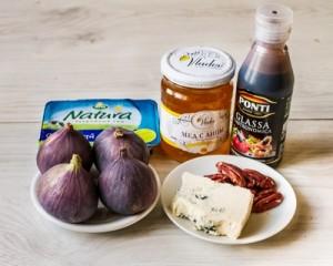 Запечений інжир з блакитним сиром і медом