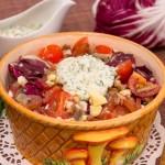 Салат з вешенками, карпаччо та чері