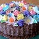 Торт цветок из мастики