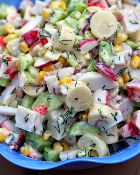 Крабовий салат з огірком
