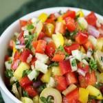 Салат из огурцов и перца
