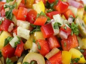 Салат з огірків і перцю