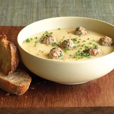 Сирний суп з фрикадельками