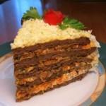 Торт з печінки (Печінковий торт)