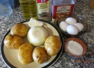 Картопляна запіканка з цибулею і сиром