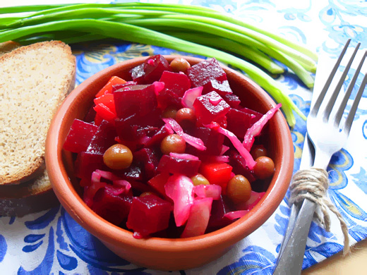 Варианты приготовления винегрета с квашеной капустой