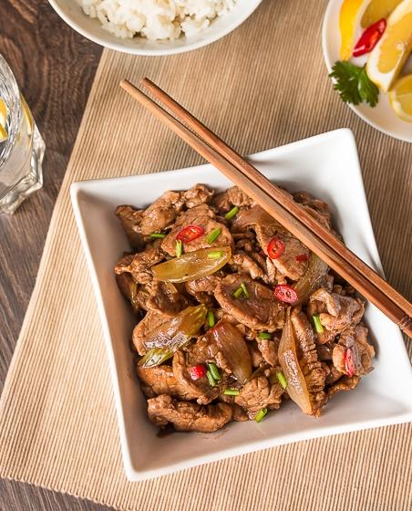 Жареная свинина с пятью китайскими специями 1