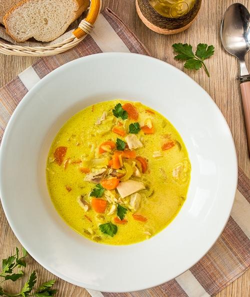 Каррі-суп з курки з рисом