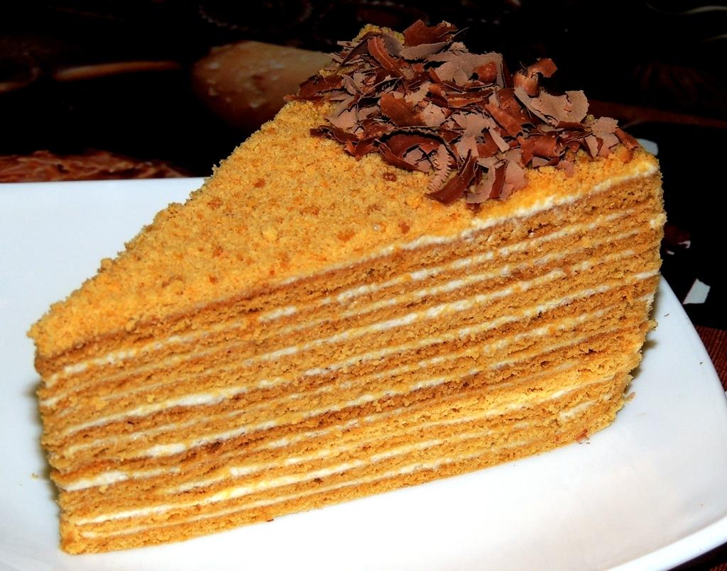 Торт медовый с тонкими коржами пошаговый рецепт
