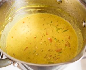 Каррі суп з курки з рисом