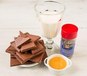 Трюфелі з молочного шоколаду з лавандою і медом