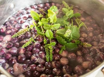 Виноградний компот з мятою