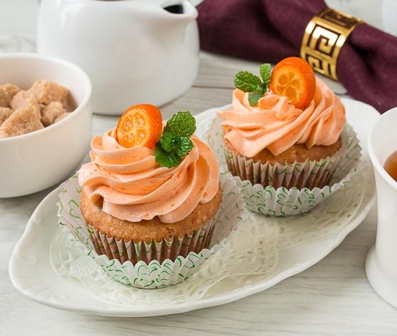 Апельсинові капкейкі з шоколадом