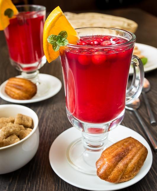 Гарячий журавлинний напій