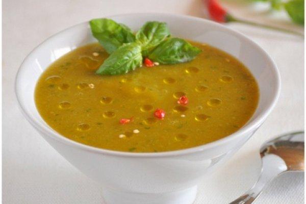 Овощной суп из цукини и помидорами