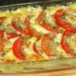 Запеченные помидоры с сыром Моцарелла